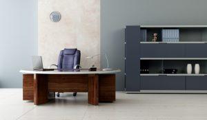 Wooden Executive Desk & Chair